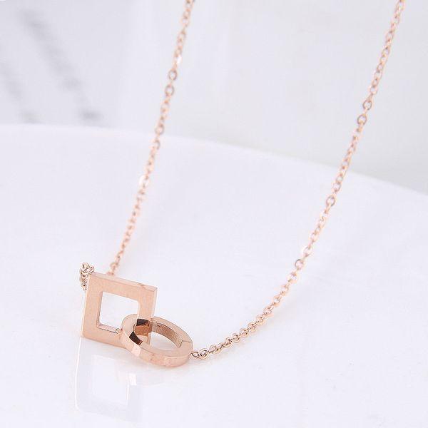 Titanium&Stainless Steel Fashion necklace NHNSC11873