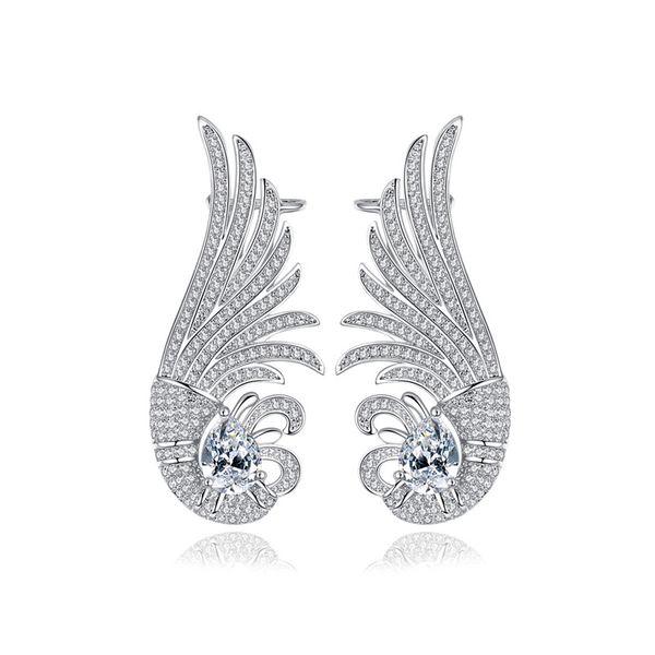 Fashion Zircon plating earring  (Platinum -10D12)  NHTM0094-Platinum -10D12