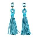 Occident alloy tassel Earrings  Light blue  NHJQ4478