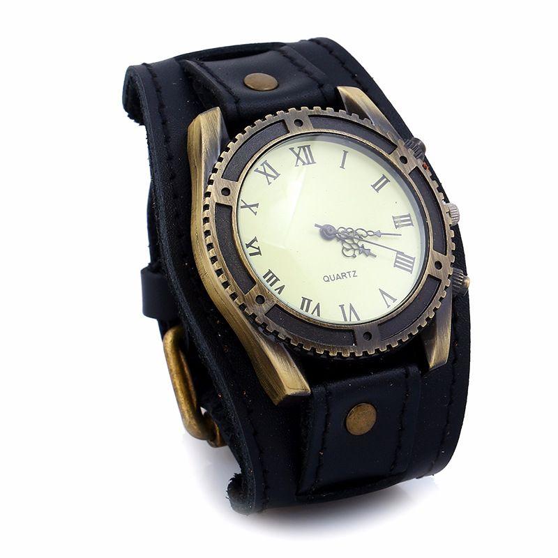 Leather Fashion Geometric bracelet  (black) NHPK1250-black