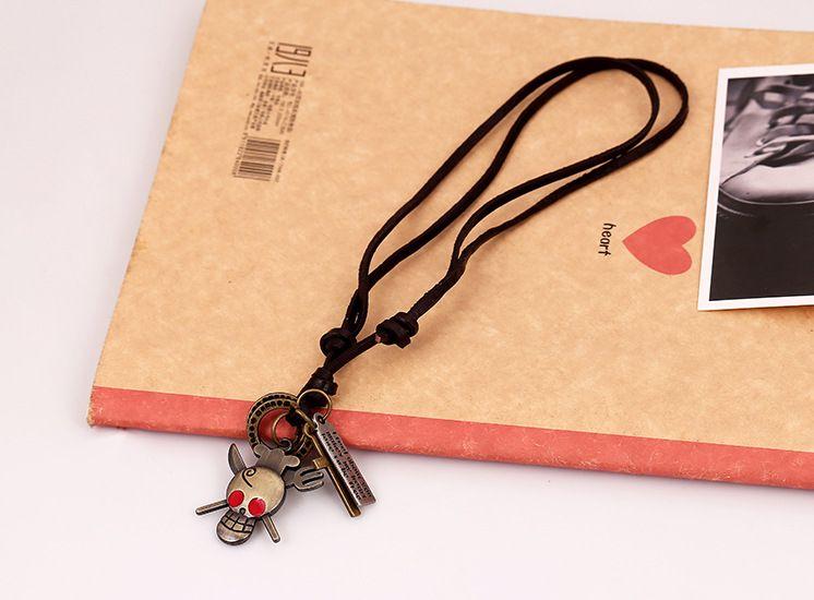 Alloy Fashion Geometric necklace  (Red-eyed skull) NHPK1436-Red-eyed skull