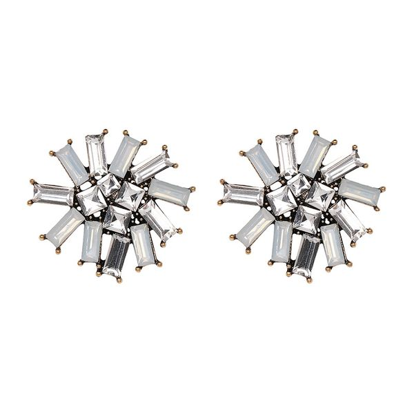 Imitated crystal&CZ Fashion Flowers earring  (50957) NHJJ4882-50957
