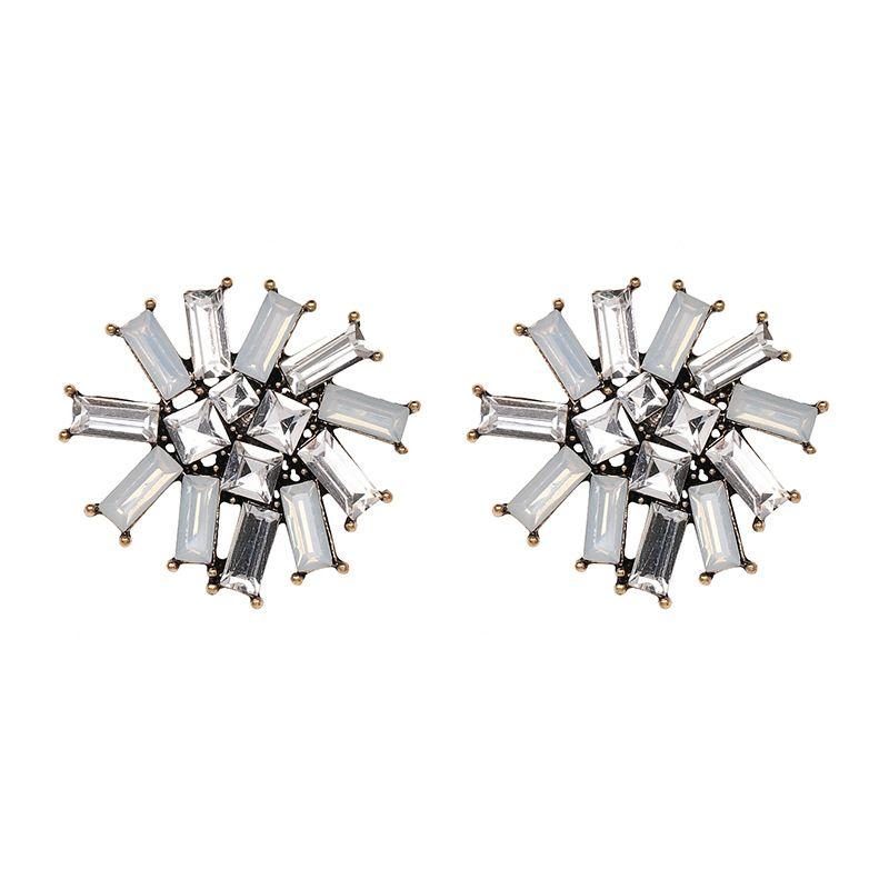 Imitated crystal&CZ Fashion Flowers earring  (50957) NHJJ4882-50957