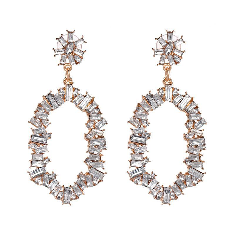 Plastic Fashion Geometric earring  (Alloy + White) NHJJ4890-Alloy-White