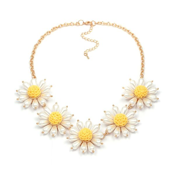 Beads Bohemia Flowers necklace  (10091) NHJJ4893-10091