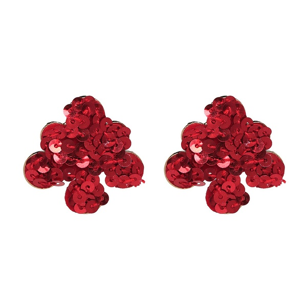 Alloy Fashion Geometric earring  (red) NHJJ4894-red
