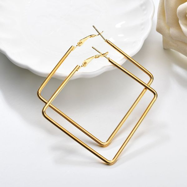 Alloy Simple Geometric earring  (Alloy) NHBQ1351-Alloy