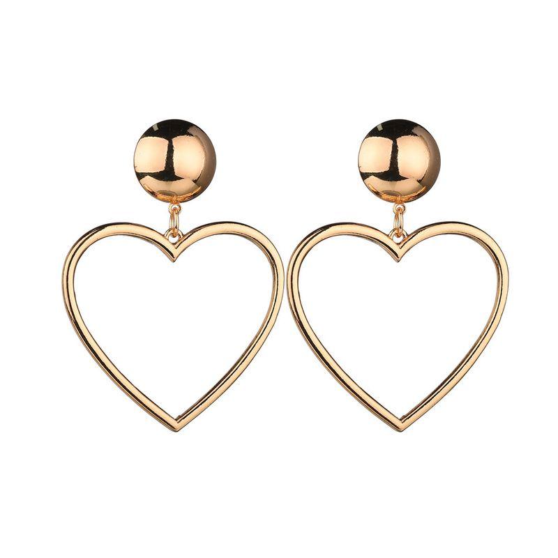 Alloy Simple Sweetheart earring  Alloy NHBQ1360Alloy