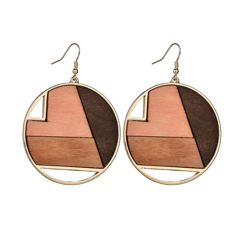 Alloy Simple Geometric earring  (Photo Color) NHBQ1377-Photo-Color