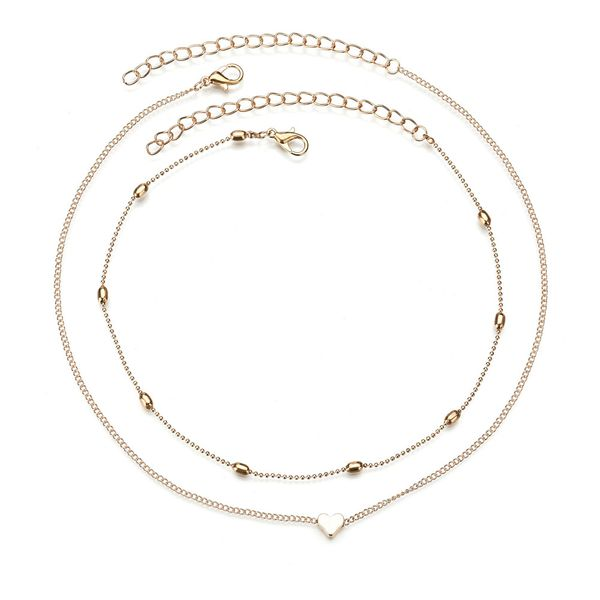 Alloy Fashion Sweetheart Necklace  (Alloy) NHBQ1390-Alloy