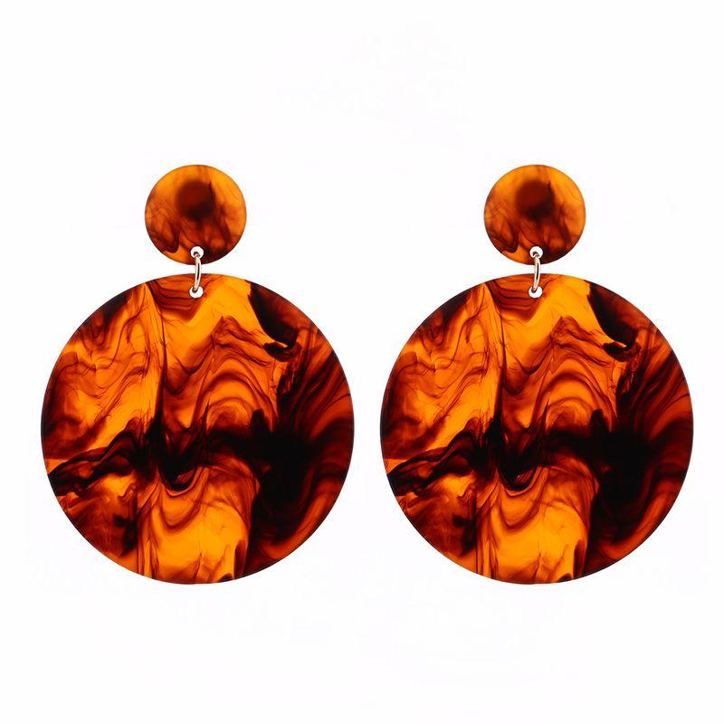 Plastic Fashion Flowers earring  (Brown) NHBQ1393-Brown