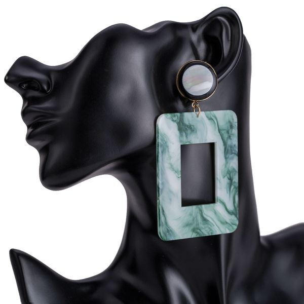 Alloy Fashion Geometric earring  (green) NHJE1504-green