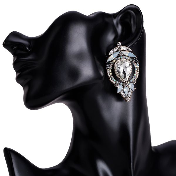 Alloy Fashion Geometric earring  (white) NHJE1510-white