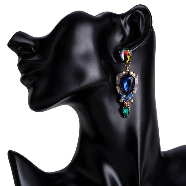 Alloy Fashion Geometric earring  (blue) NHJE1512-blue