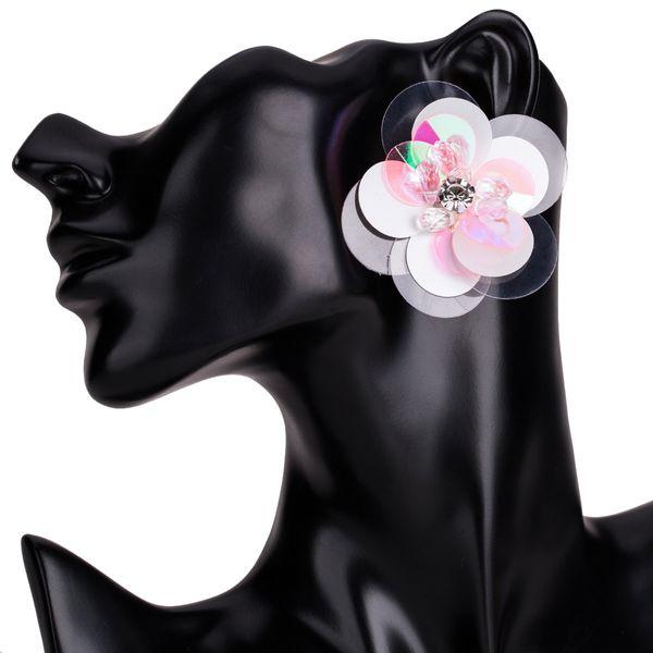 Alloy Fashion Flowers earring  (Pink) NHJE1531-Pink