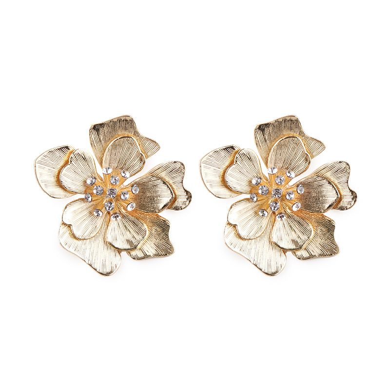 Alloy Korea Flowers earring  (white) NHJQ10373-white