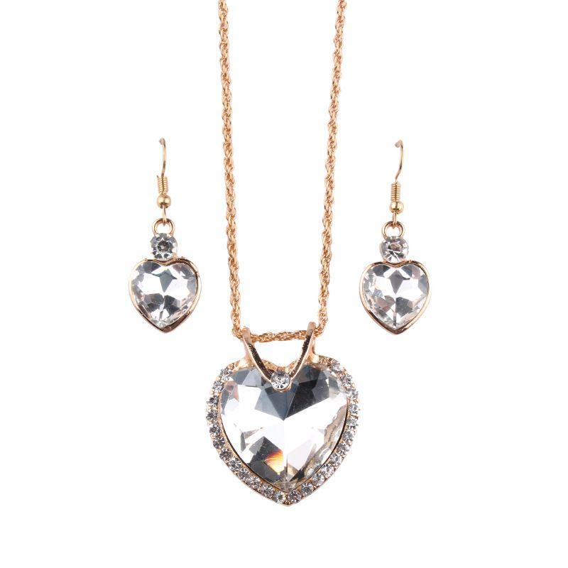 Alloy Korea Geometric necklace  (white) NHJQ10378-white