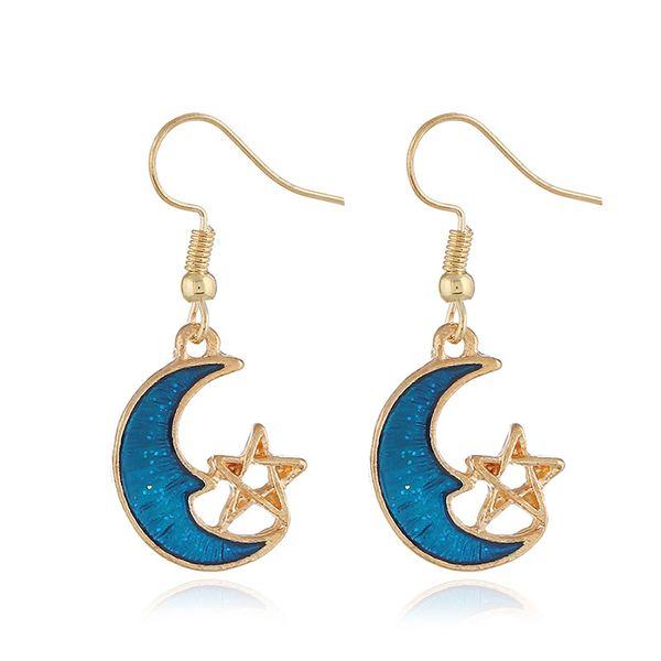 Alloy Korea Geometric earring  (KC Campbell Blue) NHKQ1691-KC-Campbell-Blue