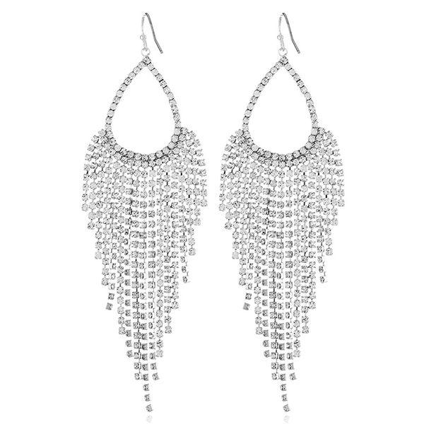 Alloy Fashion Tassel earring  (White K white) NHKQ1693-White-K-white