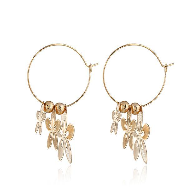 Alloy Fashion Flowers earring  (KC alloy white) NHKQ1696-KC-alloy-white