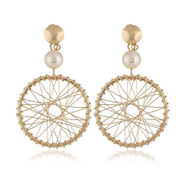 Alloy Fashion Geometric earring  (KC alloy white) NHKQ1697-KC-alloy-white