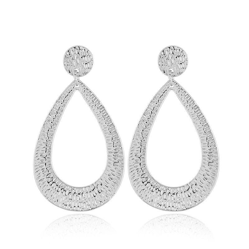 Alloy Fashion Geometric earring  (White K white) NHKQ1698-White-K-white