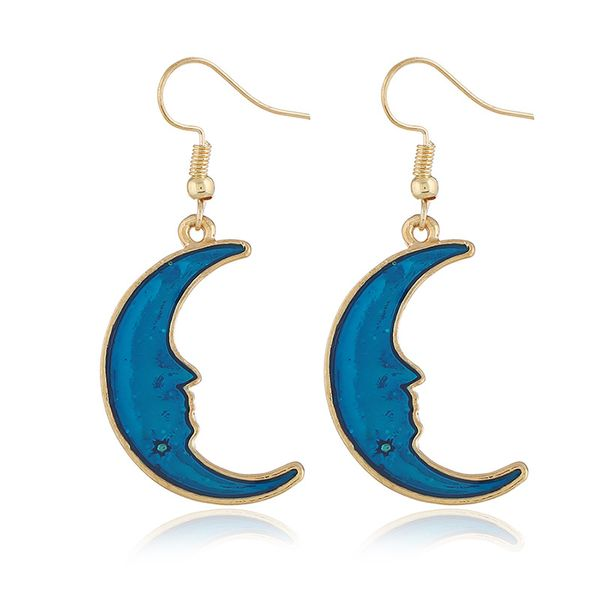Alloy Korea Geometric earring  (KC Campbell Blue) NHKQ1702-KC-Campbell-Blue