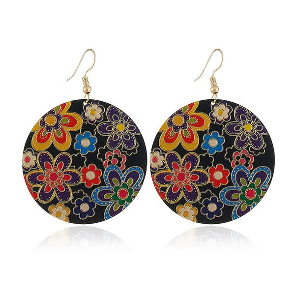 Alloy Fashion Flowers earring  (KC Alloy Deep Colorful) NHKQ1700-KC-Alloy-Deep-Colorful