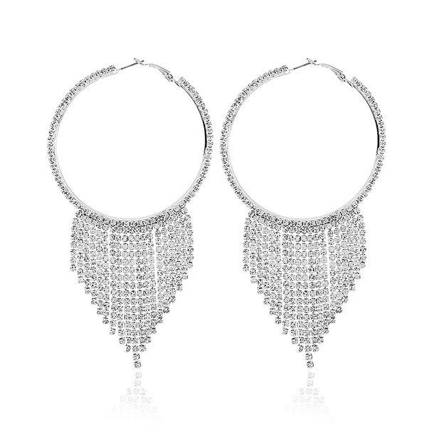 Alloy Fashion Tassel earring  (White K white) NHKQ1710-White-K-white