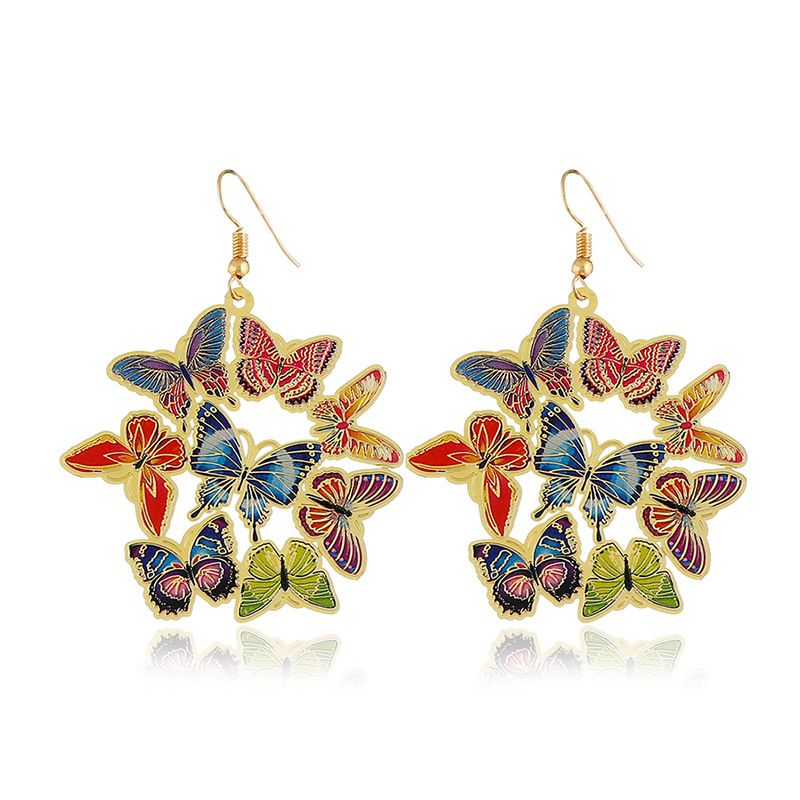 Alloy Fashion Animal earring  (KC alloy color) NHKQ1711-KC-alloy-color
