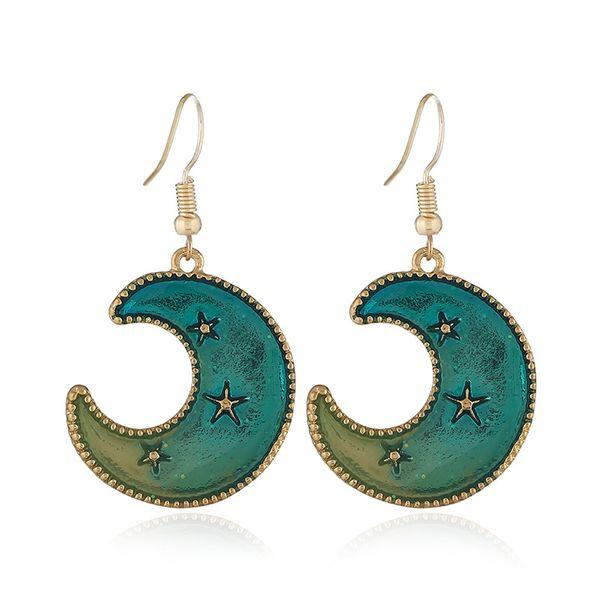 Alloy Korea Geometric earring  (KC Alloy Lake Blue) NHKQ1719-KC-Alloy-Lake-Blue