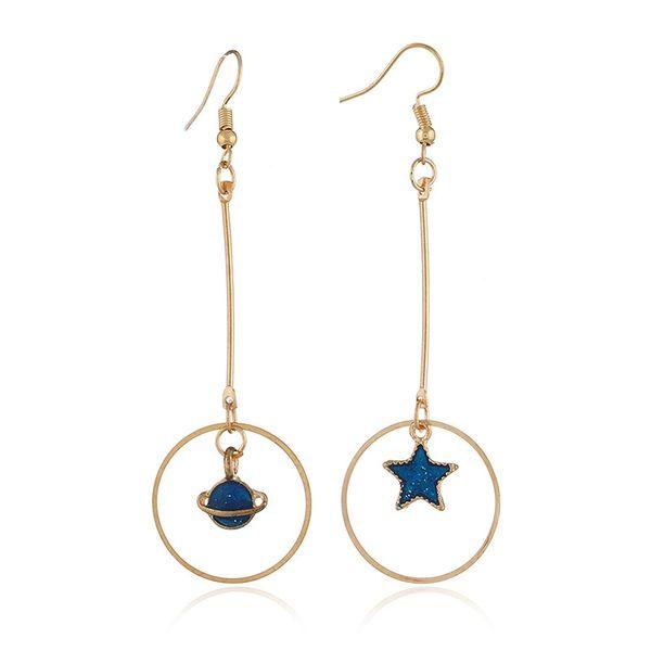 Alloy Korea Geometric earring  (KC Campbell Blue) NHKQ1720-KC-Campbell-Blue