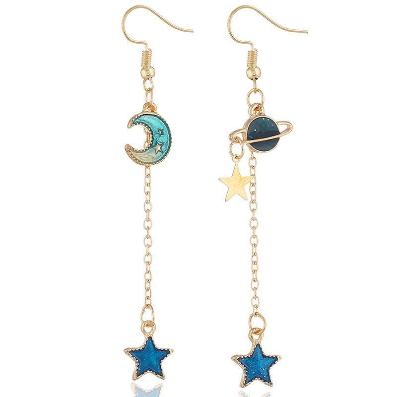 Alloy Korea Geometric earring  (KC Campbell Blue) NHKQ1722-KC-Campbell-Blue