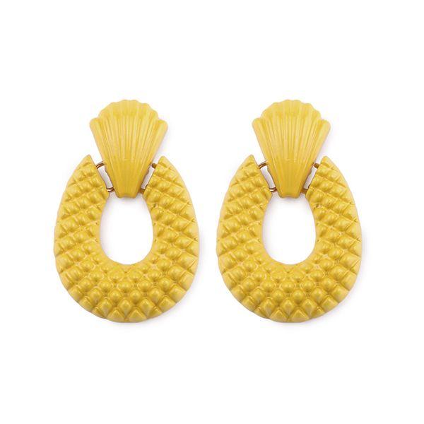 Alloy Fashion Geometric earring  (yellow) NHJQ10394-yellow