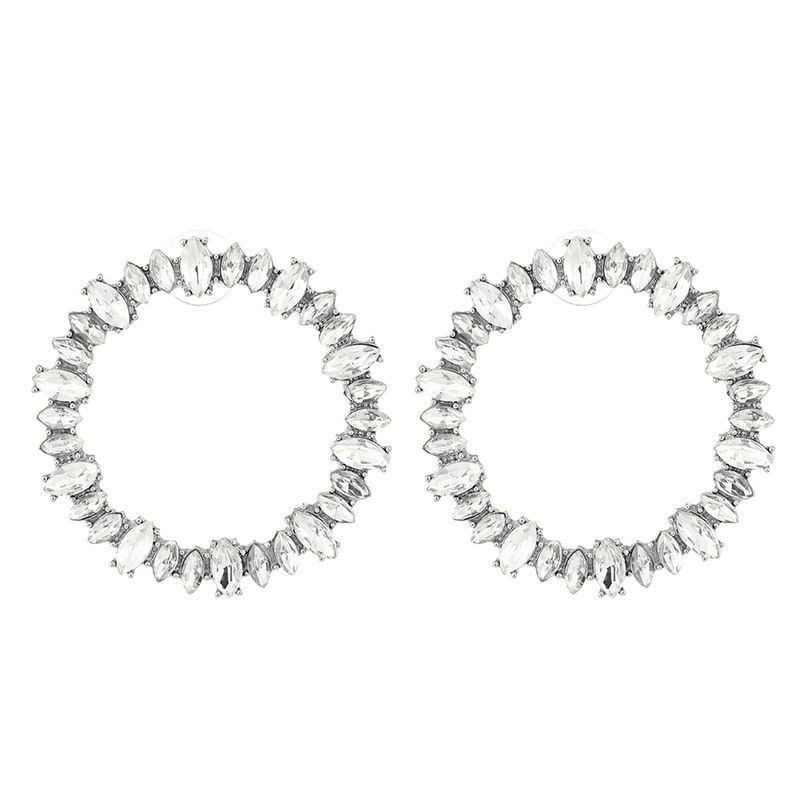 Alloy Korea Geometric earring  white NHNMD4480white
