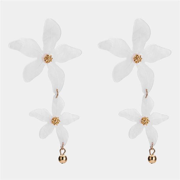 Alloy Simple Flowers earring  (white) NHWF3383-white