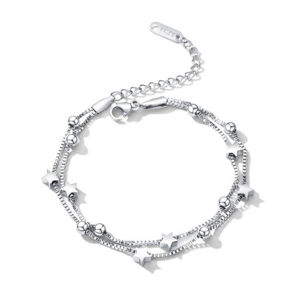 Titanium&Stainless Steel Korea Geometric bracelet  (Steel models) NHOP2679-Steel-models