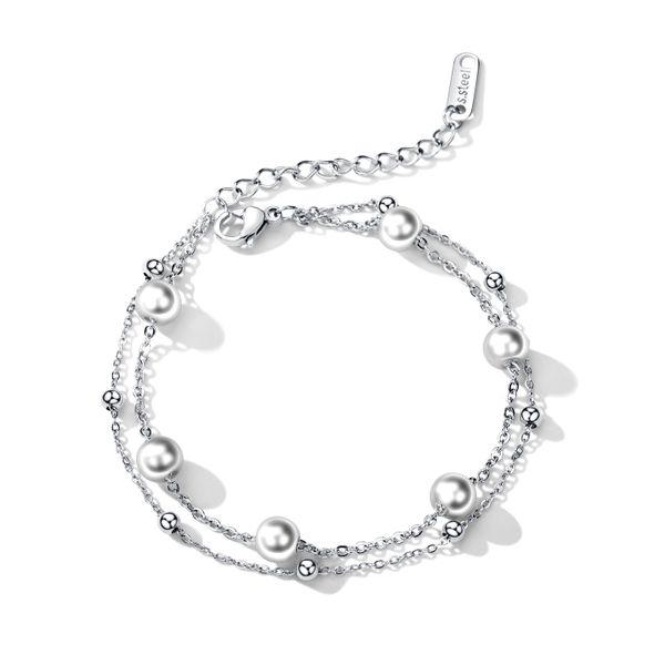 Titanium&Stainless Steel Korea Geometric bracelet  (Steel models) NHOP2684-Steel-models