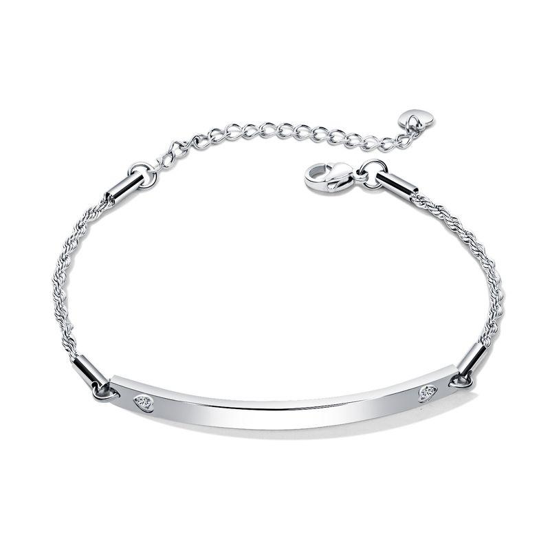 Titanium&Stainless Steel Korea Geometric bracelet  (Steel models) NHOP2688-Steel-models