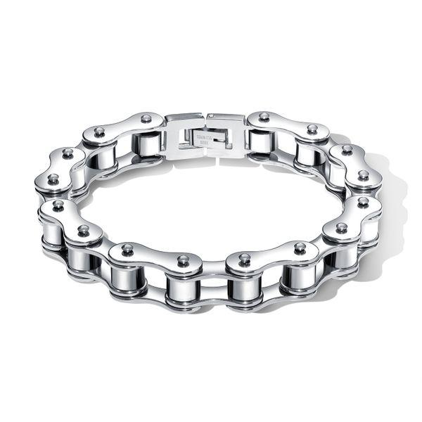 Titanium&Stainless Steel Fashion Geometric bracelet  (Steel color) NHOP2689-Steel-color