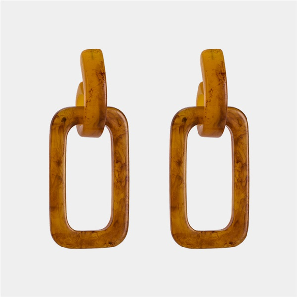 Alloy Simple Geometric earring  (brown) NHWF3387-brown