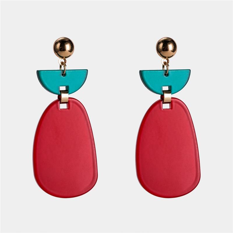 Alloy Simple Geometric earring  (red) NHWF3388-red