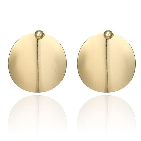 Alloy Fashion Geometric earring  (Sku6141-goledn) NHGY1922-Sku6141-goledn