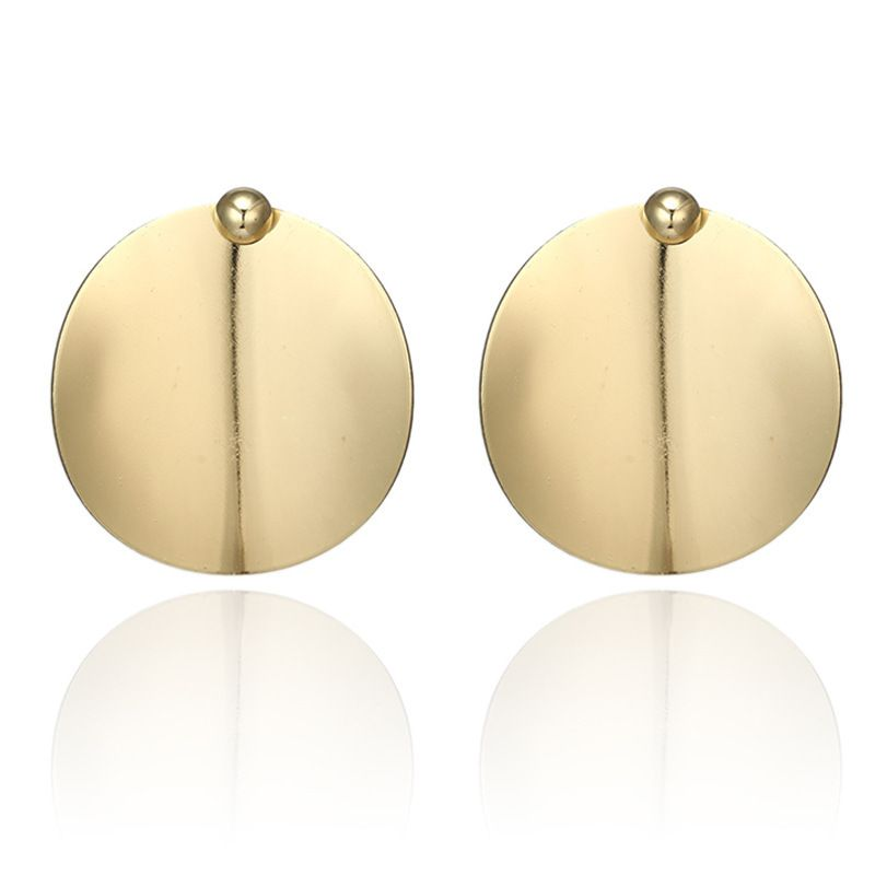 Alloy Fashion Geometric earring  (Sku6141-goledn) NHGY1922-Sku6141-goledn