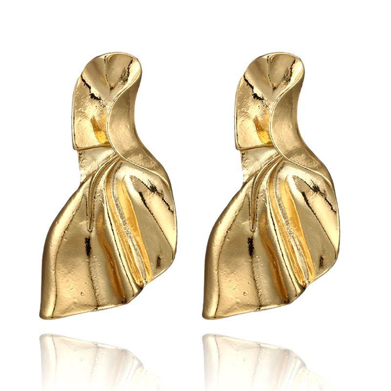 Alloy Fashion Geometric earring  (Sku6143-goledn) NHGY1942-Sku6143-goledn
