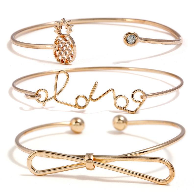 Alloy Fashion Bows bracelet  (Alloy) NHNZ0526-Alloy