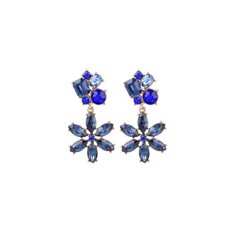 Alloy Fashion Flowers earring  Blue1 NHQD5328Blue1