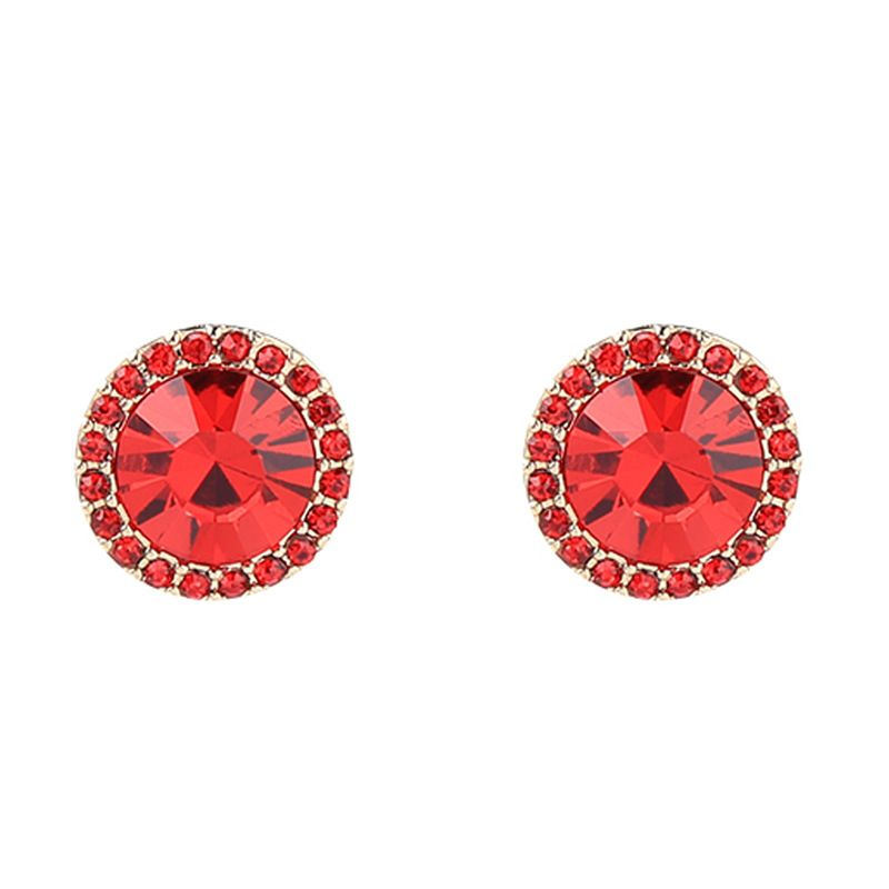Alloy Fashion Flowers earring  (Red-1) NHQD5334-Red-1
