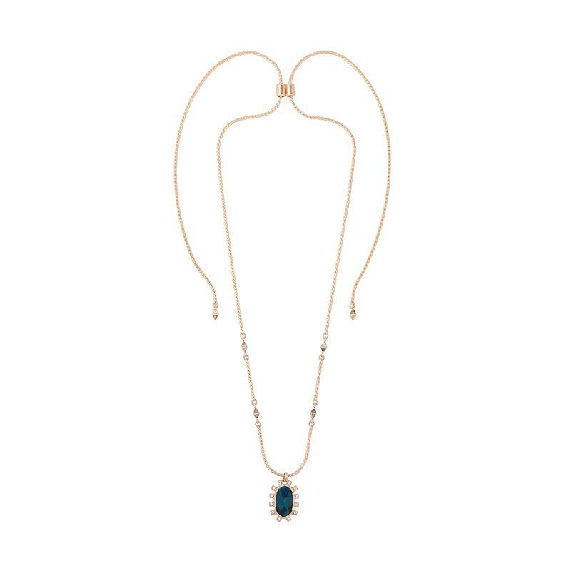 Alloy Fashion Geometric necklace  (Blue-1) NHQD5339-Blue-1