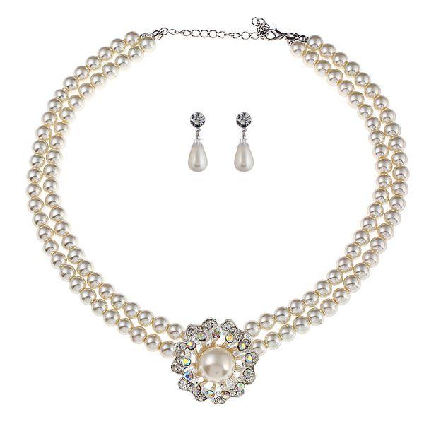 Alloy Fashion Geometric necklace  (white) NHVA4998-white